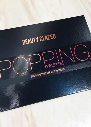 🧡💚💜 профессиональная палетка теней для век beauty glazed popping eyeshadow palette (35 color)5 фото