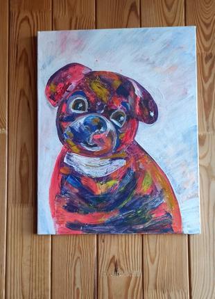 Картина на холсте, картина красками друг,в. детскую