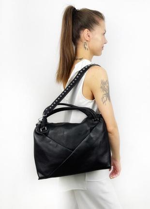 Женская кожаная сумка ассиметрия polina&eiterou