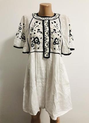 🤍стильне плаття з вишивкою💙