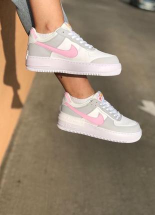 Nike air force shadow grey кроссовки найк женские форсы аир форс кеды4 фото