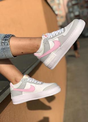 Nike air force shadow grey кроссовки найк женские форсы аир форс кеды7 фото