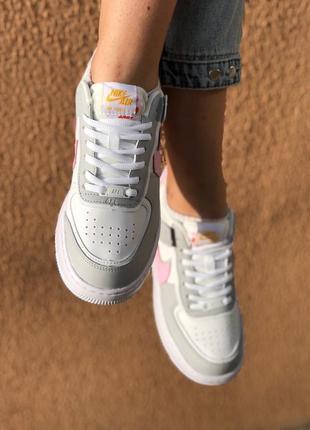 Nike air force shadow grey кроссовки найк женские форсы аир форс кеды2 фото