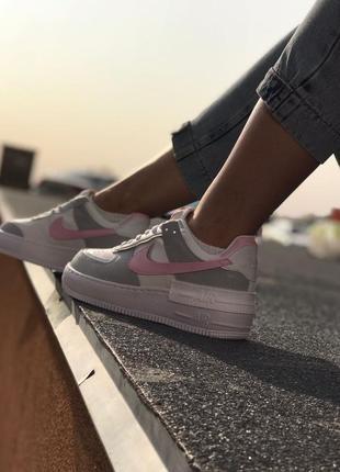 Nike air force shadow grey кроссовки найк женские форсы аир форс кеды