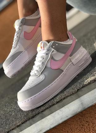 Nike air force shadow grey кроссовки найк женские форсы аир форс кеды3 фото