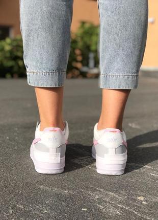 Nike air force shadow grey кроссовки найк женские форсы аир форс кеды6 фото
