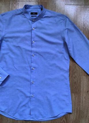 Рубашка hugo boss (68% льна), р. 40 (15  3/4)