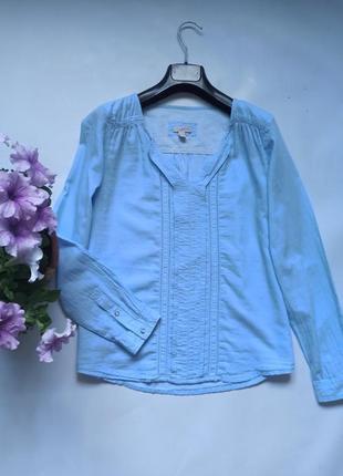 Очень лёгкая хлопковая невесомая блуза рубашка