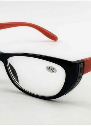 Оптика очки для зрения черно- красные