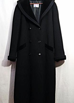 Yessica, пальто черное двубортное шерсть, made in germany