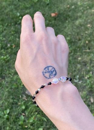 Браслет на руку из бисера и бусин бисерный браслет с бусинами украшение на руку из бисера и бусин