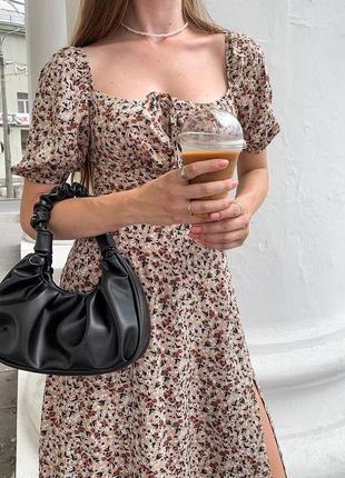 Женская чёрная сумка кожзам кросс боди
