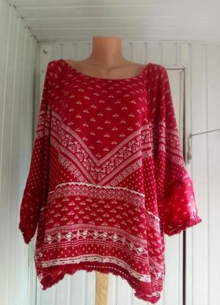 Вискозная блуза  большого размера батал3 фото