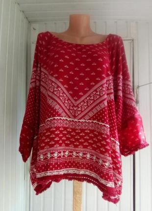 Вискозная блуза  большого размера батал2 фото