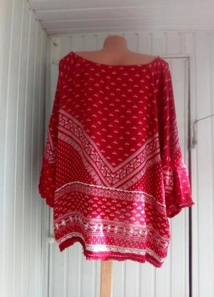 Вискозная блуза  большого размера батал4 фото