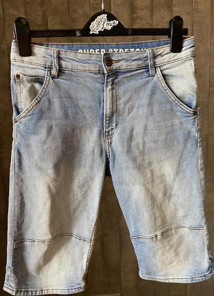 Шорты джинсовые светлые h&m