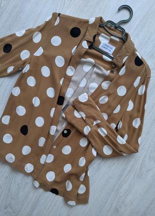 Стильная блуза в горошек libertine