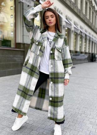 Пальто-рубашка в расцветках