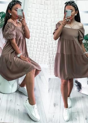 Легкое летнее платье штапель