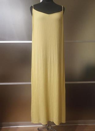 Длинное натуральное платье сарафан1 фото