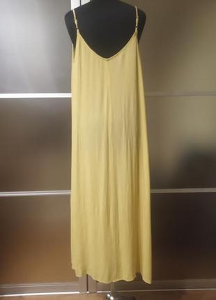 Длинное натуральное платье сарафан2 фото