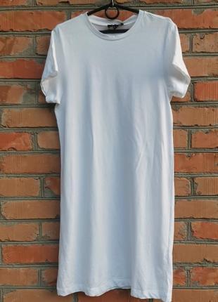Классное белое платье - футболка