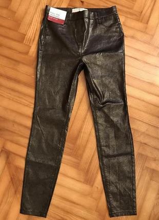 Next-новые леггинсы джинсы с серебристым покрытием! р.-38r3 фото