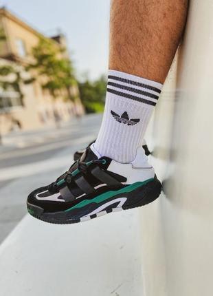 Кроссовки adidas niteball black sub green