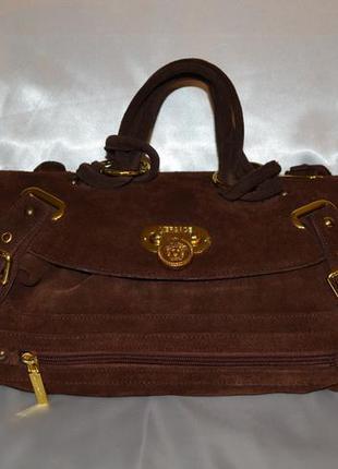Замшевая сумка versace, оригинал