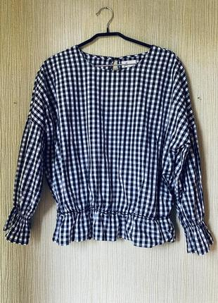 Блузка хлопковая рубашка reserved