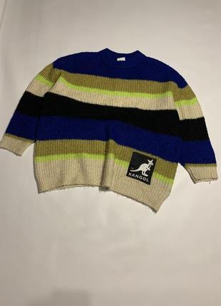 Женский оригинальный оверсайз свитер kangol x h&m big logo sweater s m