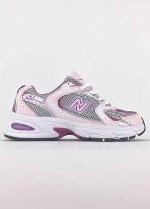 Легкие спортивные кроссовки в сеточку new balance 530 pink розовые демисезонные кожаные