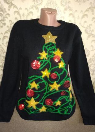 Новогодний свитер с герляндой