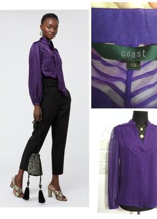 Роскошная фирменная натуральная шелковая блузка 100% шелк супер качество!!!