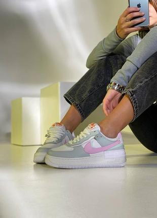 Nike air force shadow grey кроссовки найк женские форсы аир форс кеды обувь взуття