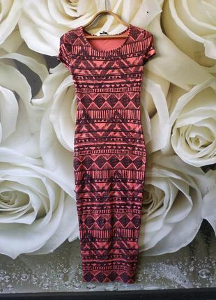 Приталенное миди платье стрейчевое платье