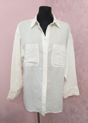 Брендова натуральна сорочка(льон)/h&m/ xs,s