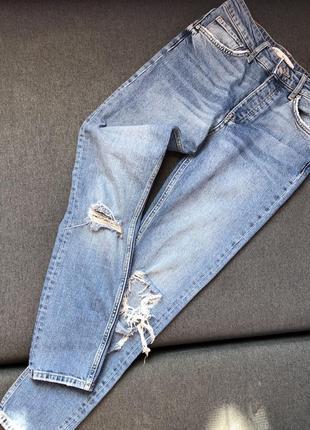 Джинсы бойфренды, джинсы прямого кроя