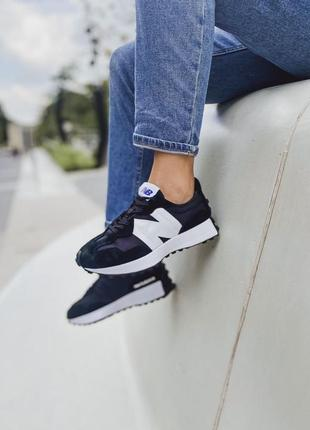Кроссовки new balance 327 white black