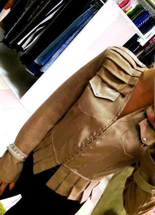 Распродажа оригинальный пиджак из мягкой мешковины турция balliza b2
