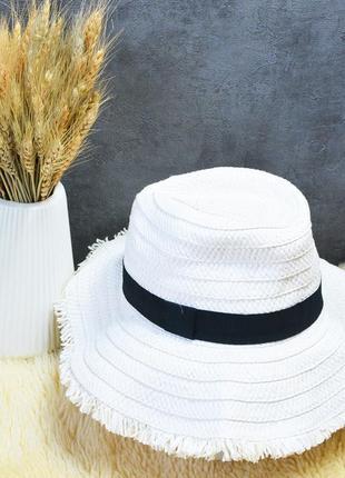 Новая белая соломенная шляпа primark
