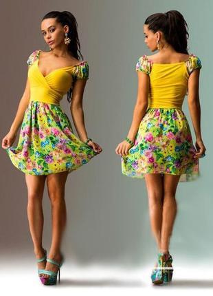 Платье- сарафан женский мини. шифон 44-46 р.