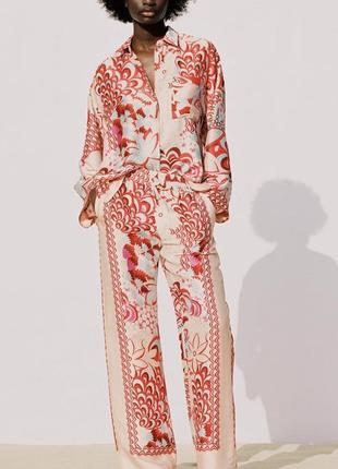 Стильний піжамний костюм тройка zara