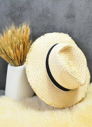Новая бежевая соломенная шляпа primark