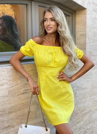 Платье женское короткое мини летнее легкое лиловое белое желтое