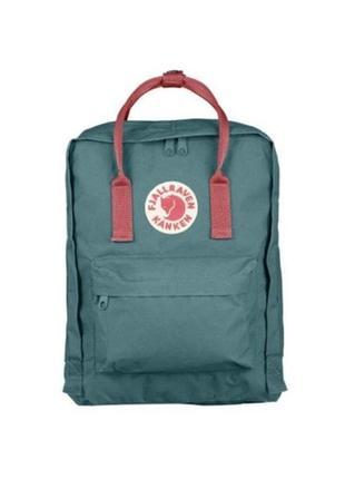 Водонепроницаемый рюкзак fjallraven kanken 16л портфель зеленый с розовыми ручками канкен школьный женский