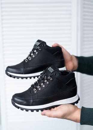 🔥🔥🔥 натуральная кожа! подростковые кроссовки чёрные