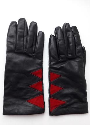 100%кожа! мягкие перчатки.италия