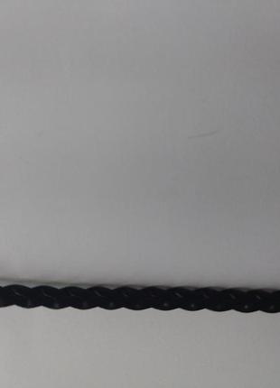 Плетеный чокер косичка кожаный под кожу кожзам / классический чокер