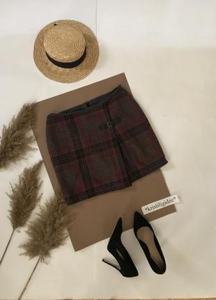Теплая юбка мини с застежкой р.л. распродажа по 25